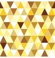 abstract gold seamless triangle pattern vector image