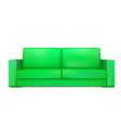 green modern sofa for living room reception or vector image