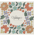 Hungarian traditional flowers decoration vector image