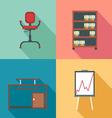 Modern office rurniture set in outlines Digital im vector image