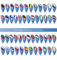 Pin flags of the Sovereign European Countries vector image