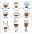 Set of coffee Decorative icons vector image