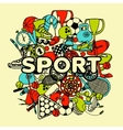 Sport Doodle Collage vector image