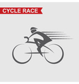 image of bicycle icon vector image