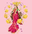 hindu goddess lakshmi vector image