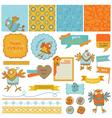 Scrapbook Design Elements - Cute Birds vector image