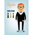 Hipster character pack for business man vector image