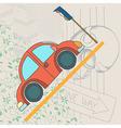 car card vector image