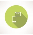 Smartphone e-mail icon vector image vector image