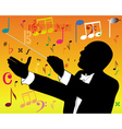 music conductor vector image
