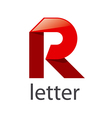 logo red ribbons in the shape of the letter R vector image