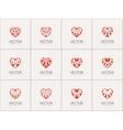 Ornamental Hearts Logos vector image