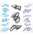 illustrated arrow collections vector image