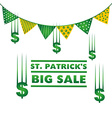 saint patricks sale design vector image