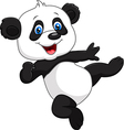 Adorable baby panda isolated on white background vector image