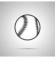 Baseball ball simple black icon vector image