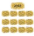 calendar 2018 golden abstract background vector image