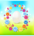 easter eggs with colorful flowers butterflies on vector image