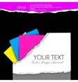 folder for documents design elements with torn pap vector image