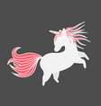 funny unicorn valentine s day design element vector image