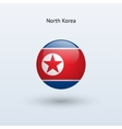 North Korea round flag vector image