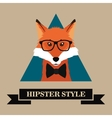 hipster style fox image vector image