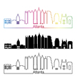 Atlanta V2 skyline linear style with rainbow vector image vector image