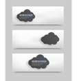 3d squares banners vector image