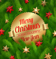 Golden labels with Christmas greetings vector image vector image
