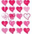 heart set vector image vector image