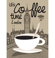 Coffee london vector image vector image