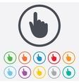 Hand cursor sign icon Hand pointer symbol vector image