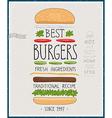 Best Burgers Poster vector image