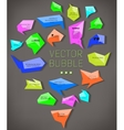 abstract modern bubble vector image