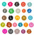 Colorful Grunge Splashes Alphabet ABC Set vector image