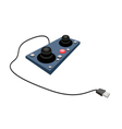 Joystick or Control Column on White Background vector image vector image