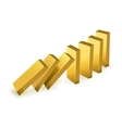 Falling gold bars vector image