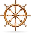 Antique wooden ship wheel vector image