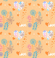 floral pattern Valentines Day vector image