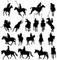polo silhouettes vector image