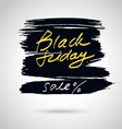 Black friday lettering on abstract artistic vector image vector image