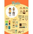 Hipster infographics with fashion design elements vector image