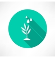 stem with water icon vector image vector image