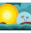 island vacation vector image