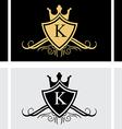 Royal King Shield Logo vector image