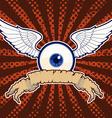 flying eye banner vector image vector image