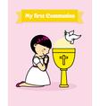 girl praying vector image
