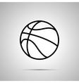Basketball ball simple black icon vector image