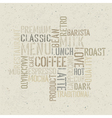 coffee words poster design template vector image