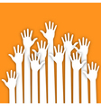 Applique of up hands for your design vector image